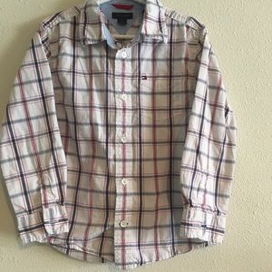 Boys Tommy Hilfiger Button Up Top Size 5